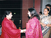 Ms.Renuka Chowdhury,  Minister of Tourism, at the WWH Congress 29 Nov, 2005